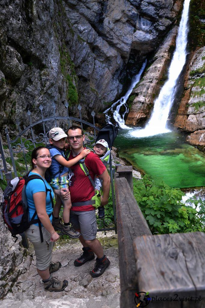 Dolina Bohinj. Wodospad Savica.
