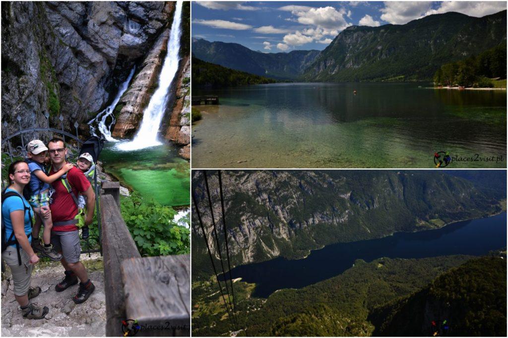 Dolina Bohinj, wodospad Savica, Vogel, Słowenia