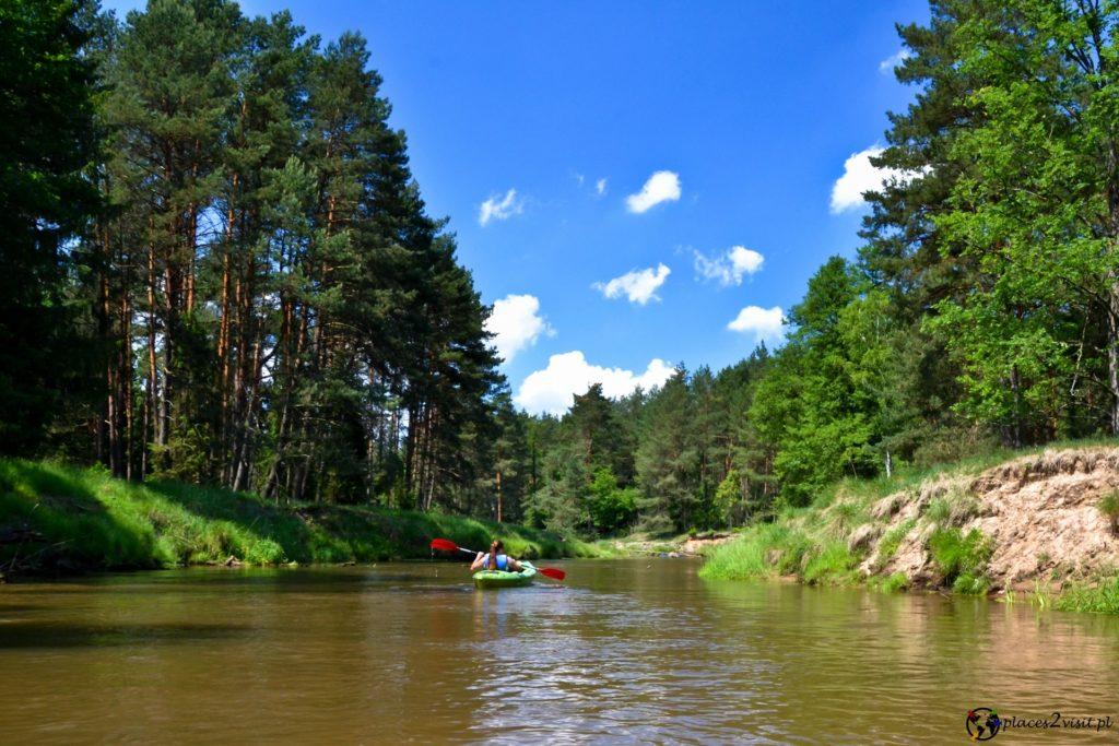 Kajaki na rzece Mała Panew