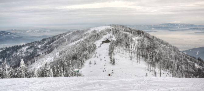 Szyndzielnia i Klimczok – zimowa wyprawa na sanki