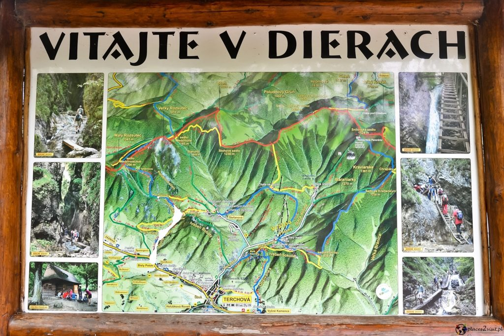 Janosikowe Diery - mapa