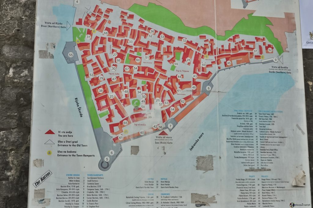 Kotor - mapa
