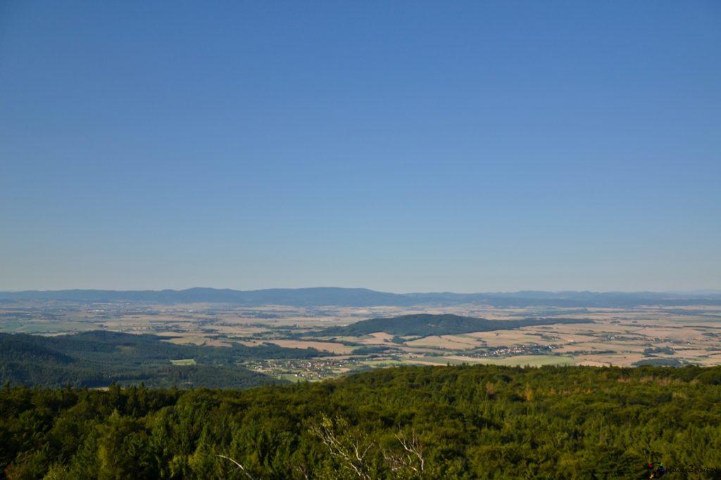Ślęża. Panorama z wieży widokowej.