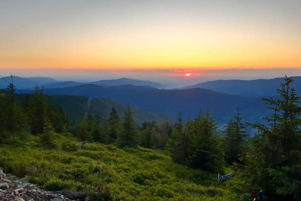 Zachód słońca - Skrzyczne